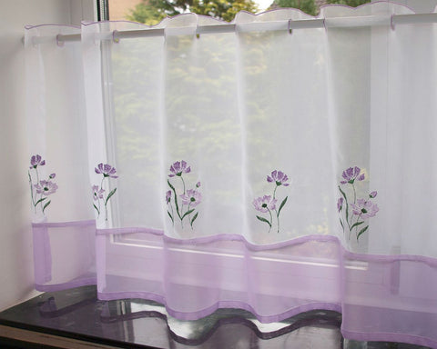 Lavender and Lilac  Cafe Panel - Sheer Ideas