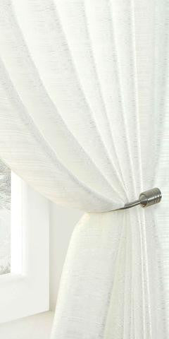 Lustre Semi Sheer Voile Panel - White - Sheer Ideas