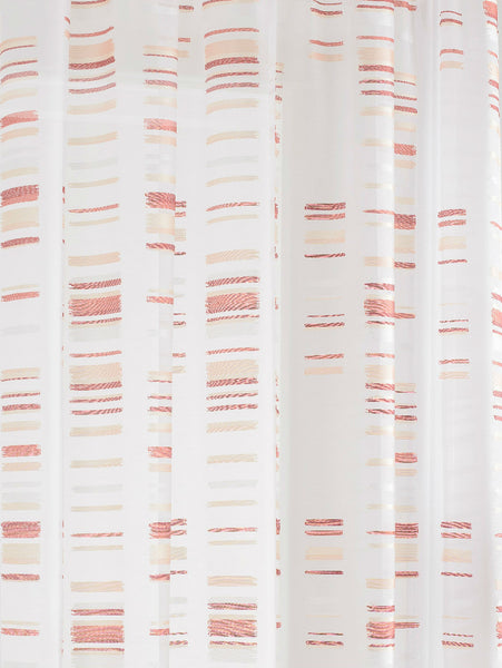 Extra Wide RED Natural White Sheer Voile Panel - Sheer Ideas