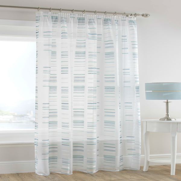 Blue White Sheer Voile Panel - Sheer Ideas