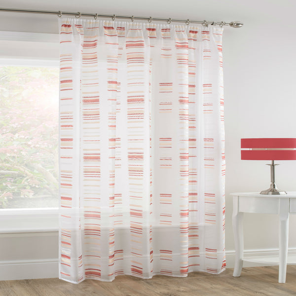 RED Natural White Sheer Voile Panel - Sheer Ideas