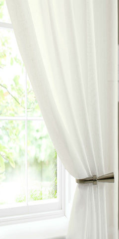 Cotton Rich Soft Touch Panel - Natural - Sheer Ideas