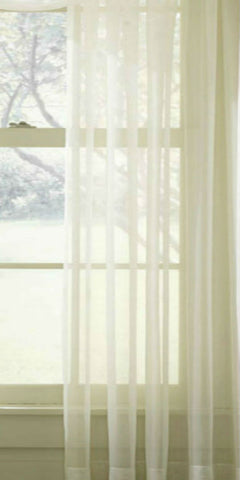 Plain Sheer Voile Panel - Pale Cream - Sheer Ideas