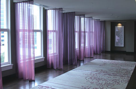 CUSTOM Made FAUX SILK Voile Panel  - 14 Shades available - Sheer Ideas