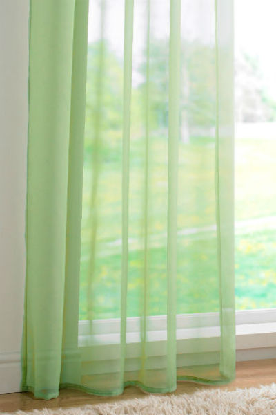 Channel / Rod Pocket Top Voile Panel - Lime Green - Sheer Ideas