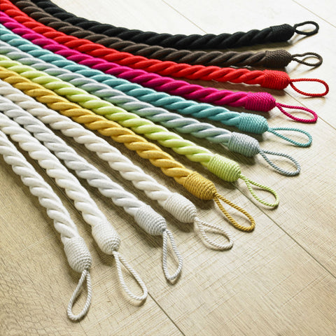 Rope Tie Back in 12 Colours - Sheer Ideas