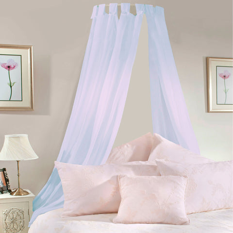 Pale Lilac Voile Bed Canopy Complete Set - Sheer Ideas