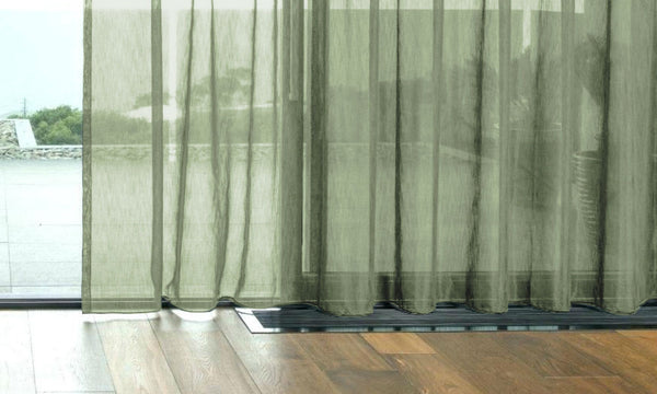 CUSTOM Made FAUX SILK Voile Panel  - Forest Green - Sheer Ideas