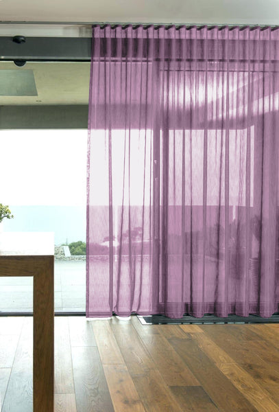 CUSTOM Made FAUX SILK Voile Panel  - Orchid - Sheer Ideas