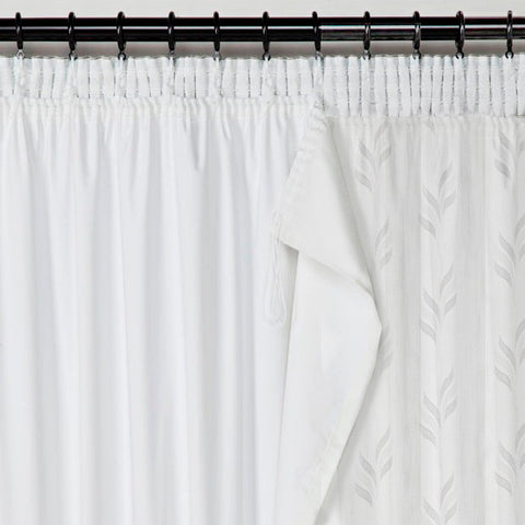 BLACKOUT Lining Panel for Voiles & Sheers - White - Sheer Ideas
