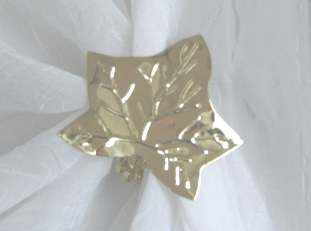 Ivy Leaf Clip - Bright Gold ( pair) - Sheer Ideas