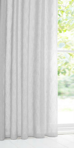 Extra Wide COTTON LOOK Voile Panel - Pale Grey - Sheer Ideas