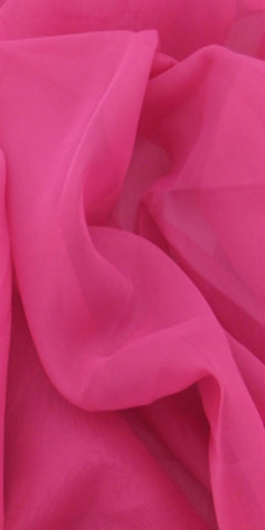 Sheer Plain Voile Fabric 150cm width  - Fuschia Pink - Sheer Ideas
