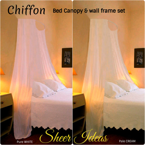 Chiffon Voile Bed Canopy Complete Set - Sheer Ideas