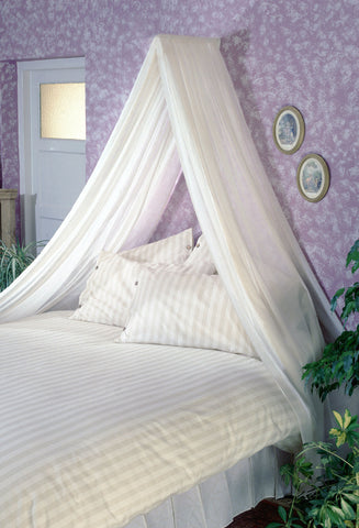 Voile Bed Canopy Complete Set - Pale Cream - Sheer Ideas
