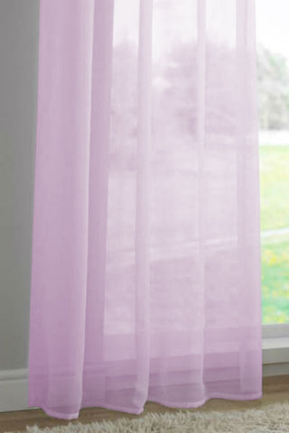 Channel / Rod Pocket Top Voile Panel - Lilac - Sheer Ideas
