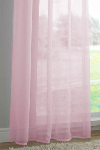 Tab Top Panel -Pink - Sheer Ideas