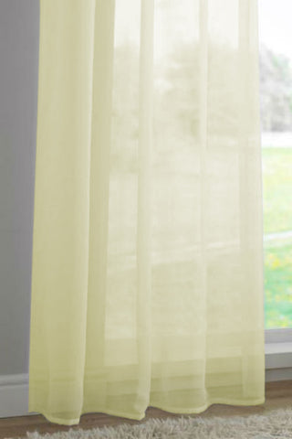 Channel / Rod Pocket Top Voile Panel - Sunshine - Sheer Ideas