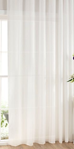 Extra Wide Cotton Rich Voile Panel  - Pure White - Sheer Ideas