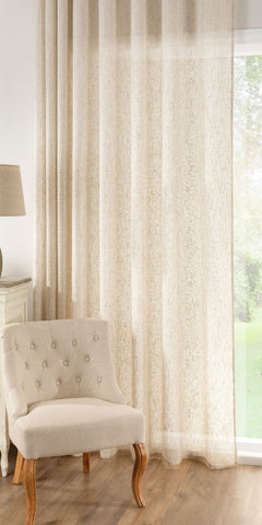 Extra Wide Linen Rich Panel  - Natural - Sheer Ideas