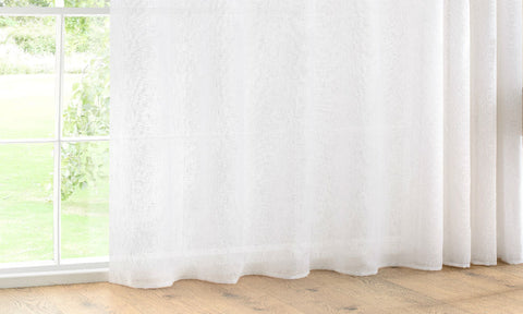 CUSTOM Made LINEN RICH 72% Linen Panel  - White - Sheer Ideas