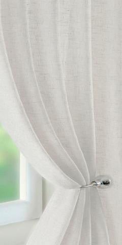 Linen Rich Panel  - Soft White - Sheer Ideas