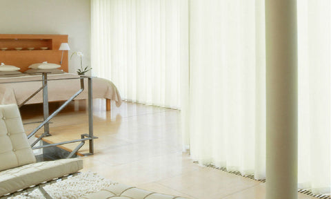 CUSTOM Made LINEN LOOK Semi Sheer Voile Panel  - Pale Cream - Sheer Ideas