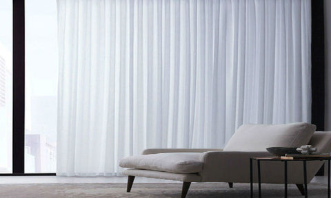 FLAME RETARDANT CUSTOM Made BATISTE Semi Sheer Voile Panel  - Pure White - Sheer Ideas