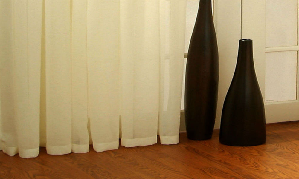 CUSTOM Made MISTED opaque Voile Panel  - Cream - Sheer Ideas