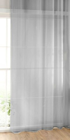 Plain Sheer Voile Panel - Silver Grey - Sheer Ideas