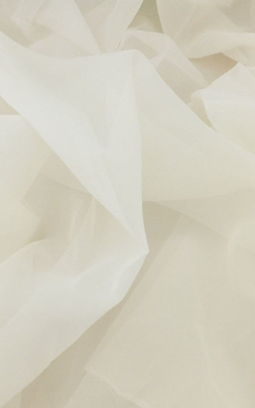 Extra Wide Sheer Plain Voile - Pale Cream - Sheer Ideas