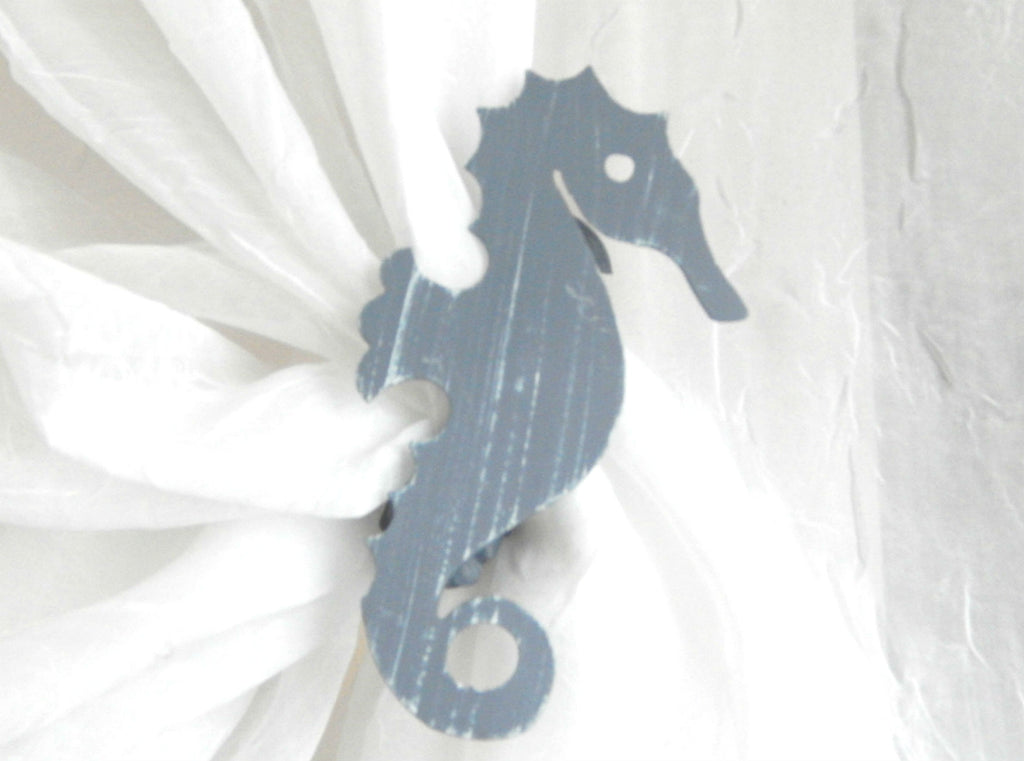SeaHorse - Blue/Grey ( pair) - Sheer Ideas