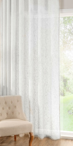 Extra Wide Linen Rich Panel  - Soft White - Sheer Ideas