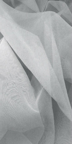 Sheer Plain Voile Fabric 150cm width  - Silver Grey - Sheer Ideas