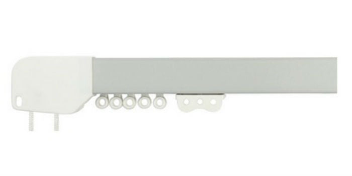 Ready Corded Aluminium Voile &  Curtain Track - Brushed Silver - Sheer Ideas