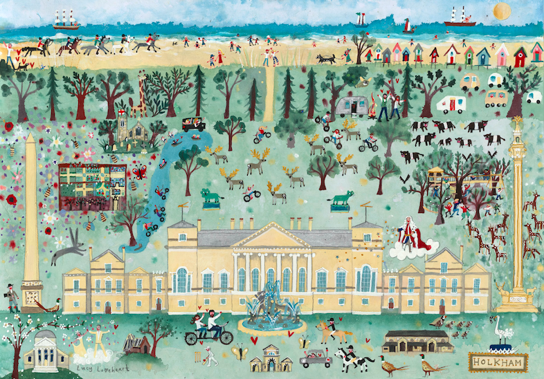 Lucy Loveheart new painting and prints at Holkham Hall
