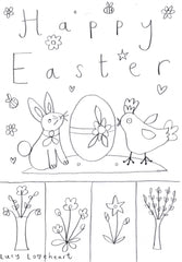 Easter colouring in sheet
