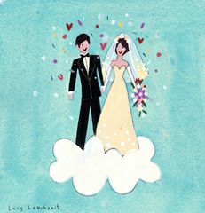 Lucy Loveheart Wedding Card