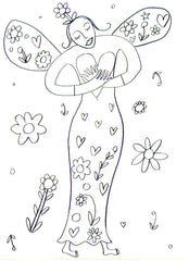 Lucy Loveheart Mothers Day colouring in sheet - Mother with a heart of hold.jpg