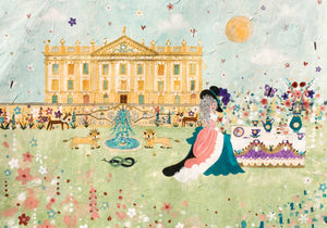 Art Print in a Tube | Tea and Biscuits on the Lawn | Chatsworth House | Lucy Loveheart