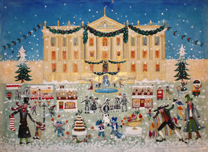 Original Painting | Christmas | Chatsworth House | Lucy Loveheart