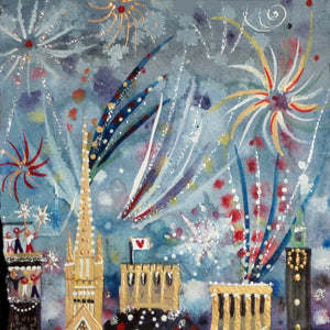 Fireworks in the City | Limited Edition Studio Print | Norwich | Lucy Loveheart