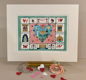 Art Print | Follies of Love | Chatsworth House | Lucy Loveheart