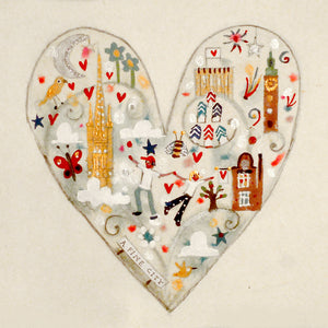Heart of the city | Limited Edition Studio Print in a Tube | Norwich | Lucy Loveheart