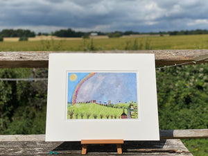 Rainbow Over The Hall | Studio Print | Lucy Loveheart