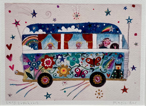 Magic Bus | Studio Print in a Tube | Lucy Loveheart