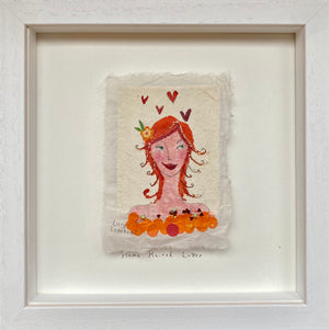 Original Painting | Flame Haired Lover 1 | Lucy Loveheart