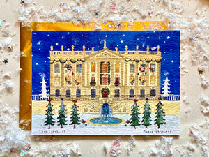 Christmas Card | Pack of 5 - Happy Christmas | Chatsworth House | Lucy Loveheart
