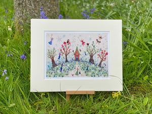 Art Prints | Bluebell Cottage | Lucy Loveheart