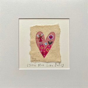Original Painting | Little Pink Love Fairy | Lucy Loveheart